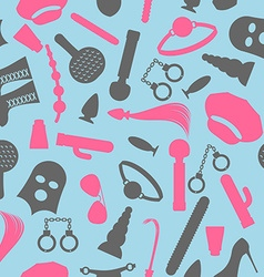 BDSM seamless pattern Accessories sadist masochist vector image