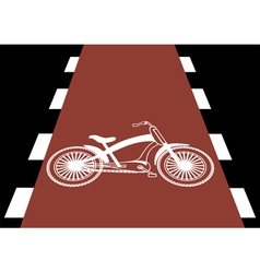 bicycle traffic vector image