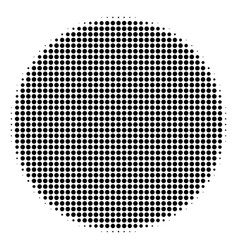 Black dotted filled circle icon vector