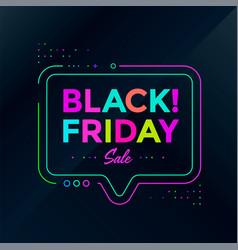 black friday sale poster design sale banner vector image