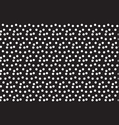 black white background random scattered circle vector image