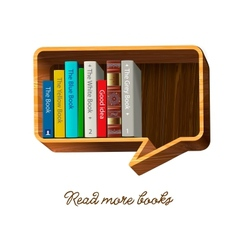 bookshelf in form speech bubble vector image