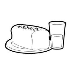 Bread and drink design vector