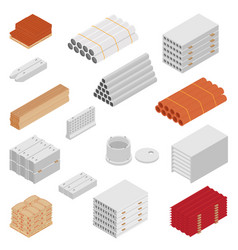 Building and construction materials icon set vector