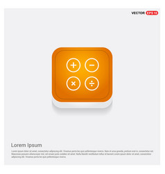 business calculator icon orange abstract web vector image