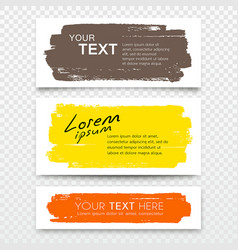 business card brush stroke colorful set vector image