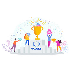 Business values concept company values shared by vector