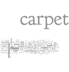 Carpet repair vector