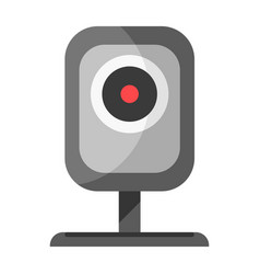 cctv device for watching icon isolated on white vector image vector image