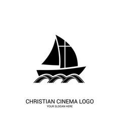 Christian cinema logo vector