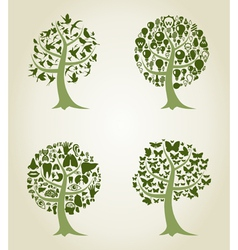 Collection of trees5 vector