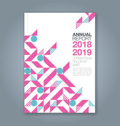 cover annual report 1091 vector image