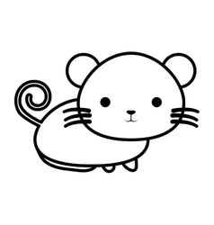 Cute mouse isolated icon vector