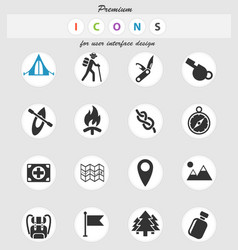 Day of skouts icon set vector