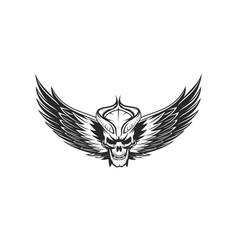 devill skull logo vector image
