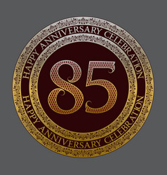 eighty fifth anniversary celebration logo symbol vector image