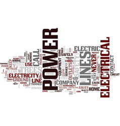 Electrical safety in the home text background vector