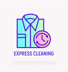 express cleaning folded shirt with timer vector image