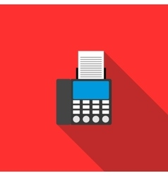 Fax icon in flat style vector image