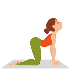 fitness woman yoga relax meditation vector image