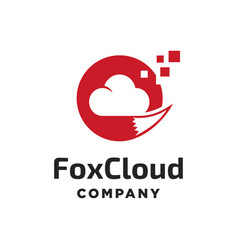 fox cloud logo vector image