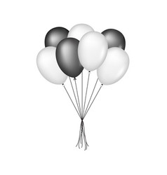 Glossy balloons in black and white design vector