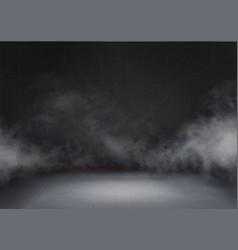 Gray cloud and smoke in dark room vector