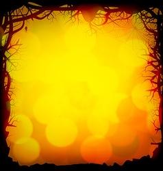 Halloween Forest Background vector