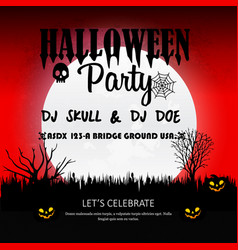 Halloween party invitation design card vector