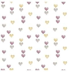 Hearts seamless pattern Valentine Day background vector