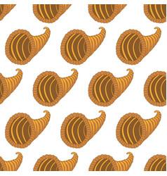 horn of plenty pattern vector image vector image