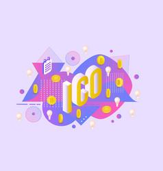 ico text design - isometric vector image