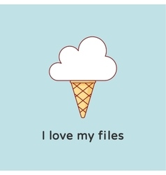 Icon of Cloud with icecream Creative concept vector