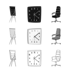 isolated object furniture and work logo vector image