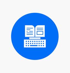 Key keyboard book facebook white glyph icon vector