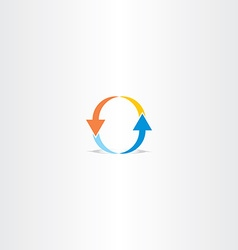 Letter o arrow logo vector
