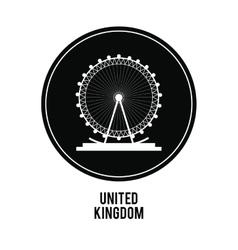 london eye icon United kingdom design vector image