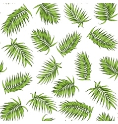 Loose seamless jungle forest greenery pattern vector