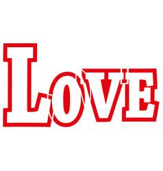 love online icon vector image