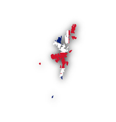 map and flag of shetland islands vector image