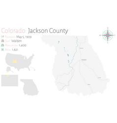 Map jackson county in colorado vector