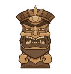 Mask tiki idol icon cartoon style vector