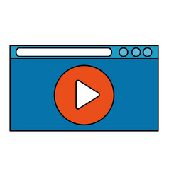 media player in display vector image