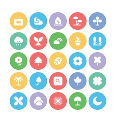 Nature Colored Icons 5 vector image