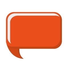 orange conversation bubble vector image