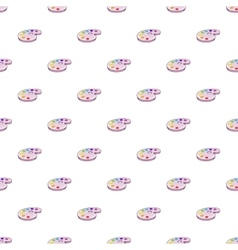 Palette of colors pattern cartoon style vector