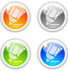 Pencil buttons vector image