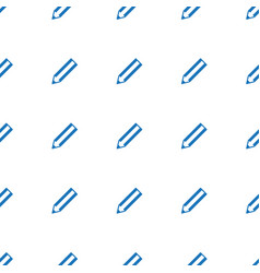 pencil icon pattern seamless white background vector image