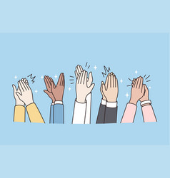 People hands clap show acknowledgement after vector