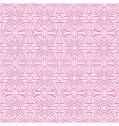 Pink background with seamless pattern vector